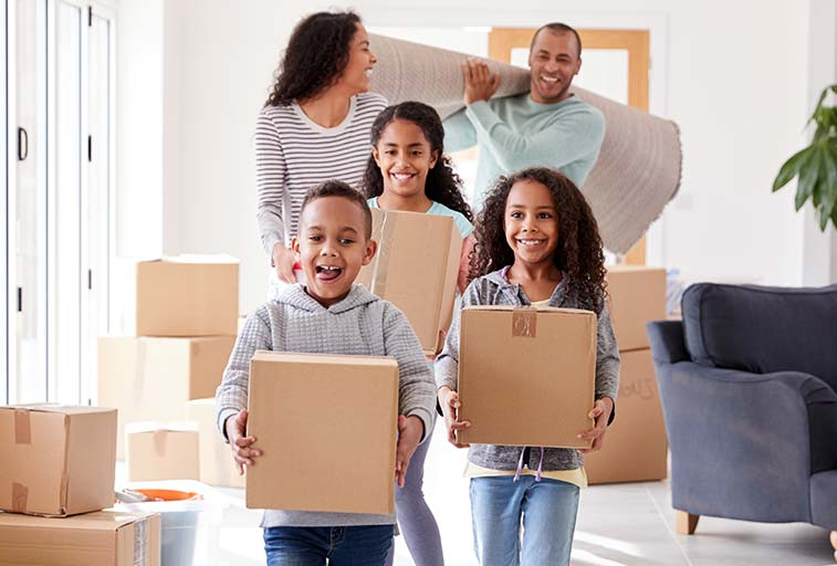Family moving into home image